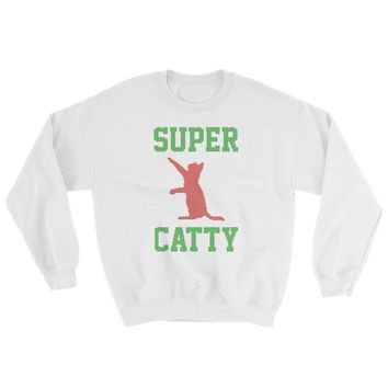 Super Catty Ugly Christmas Sweatshirt - Funny Gift for Cat Lovers