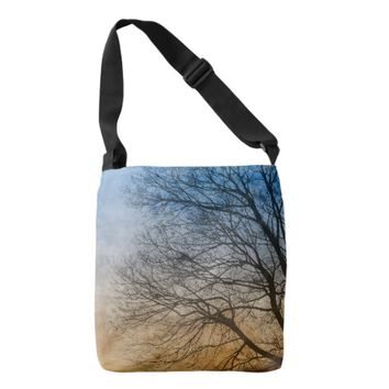 Tree Branches All Over Print Cross Body Bag