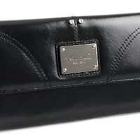 Navy Blue Genuine Leather Kenneth Cole New York Womens Credit Card Clutch Wallet