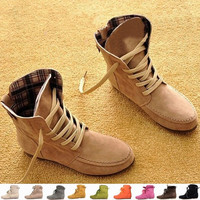 2015 Autumn and Winter Boots Snow Boots for Women and Men Martin Boots Genuine Leather Boots Couples Shoes = 1930063236