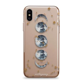 Zodiac Moon Phases - iPhone Clear Case