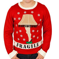 'A Christmas Story' Lighted Leg Lamp Sweater in Red By Festified (Large)