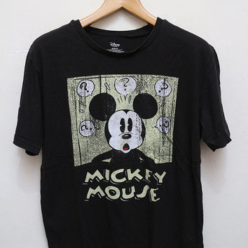 Vintage MICKEY MOUSE T Shirt Black Color Size M