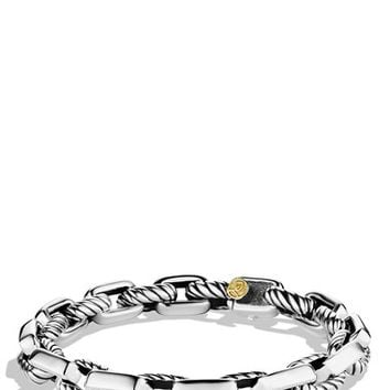 Men's David Yurman 'Chain' Empire Link Bracelet with Gold