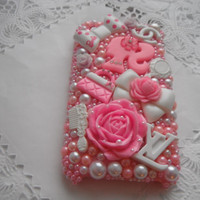 Pink Barbie Lv pearl 3G 3Gs CASE by VANESSABLINGS on Etsy