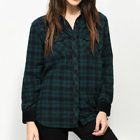 Empyre Brandon Green & Black Button Up Shirt | Zumiez