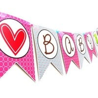 Onesuit Baby Shower Banner for Party Decoration