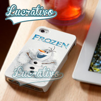 Frozen Olaf Snowman - iPhone 4/4s/5/5s/5c Case - Samsung Galaxy S2/S3/S4 Case - Black or White
