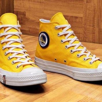 NBA x Converse Custom Chuck 1970S High Sneaker ¡°Gold State Warriors¡± A162054C