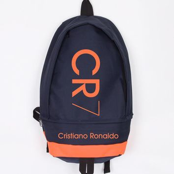 New Fashion Cristiano Ronaldo Canvas Backpack Men Women Large Capacity Computer Backpack CR7 Travel Backpack Boy Girl School Bag