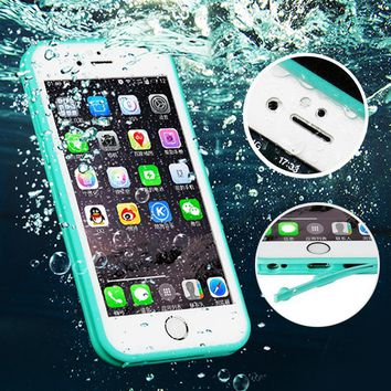 Full Coverage Water Resistant Waterproof Case For coque iPhone 8 7 6s Plus 5 5s SE Soft TPU Silicone Case 360 Full Body Covers