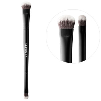 Sephora: SEPHORA COLLECTION : Large & Precision Shadow Brush N°206 : eye-brushes-makeup-brushes-applicators-makeup