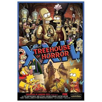 Simpsons Treehouse Of Horror Xxiv Movie poster Metal Sign Wall Art 8in x 12in