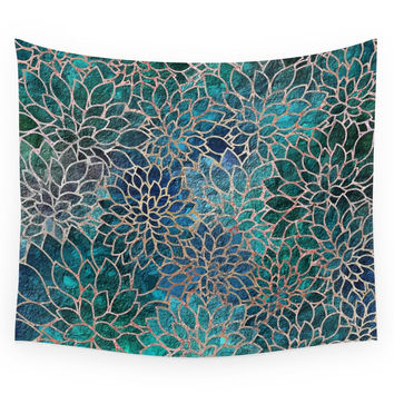 Society6 Floral Abstract 4 Wall Tapestry