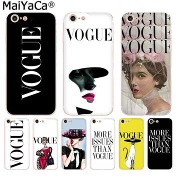 Fashion Woman More Issues than Vogue Unique Design phone Case for iPhone 8 7 6 6S Plus X 10 5 5S SE 5C 4 4S