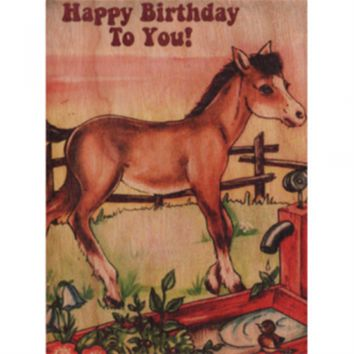 Birthday Wood Folding Horse