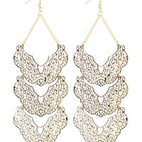 Filigree 3 Layer Drop Earring