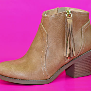 Anything Goes Booties - Tan