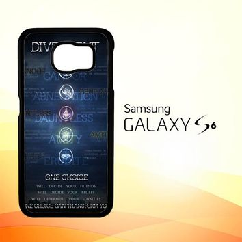 Divergent Faction Symbols Z0694 Samsung Galaxy S6 Case