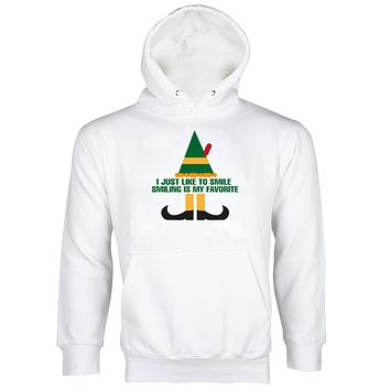 I Just Like to Smile Smiling's My Favorite Buddy the Elf Hoodie