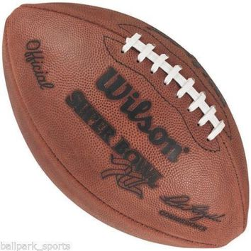 WILSON OFFICIAL SUPER BOWL 12 XII LEATHER GAME FOOTBALL COWBOYS BRONCOS STAMPED