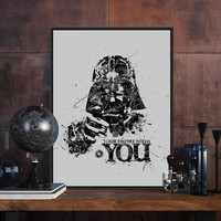 Modern Watercolor Star Wars A4 Vintage Movie Poster Prints Darth Vader Pop Wall Art Picture Home Decor Canvas Painting No Frames