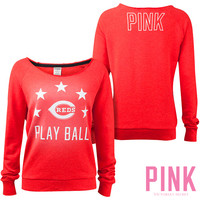 Cincinnati Reds Victoria's Secret PINK® Raw Neck Raglan Sweatshirt - MLB.com Shop