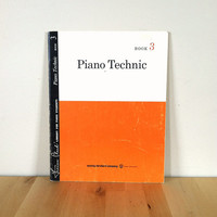 Piano Technic Book 3: Library for Piano Students {1955} Vintage Book
