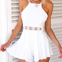 White Summer Cutout Romper