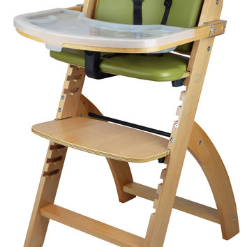 Beyond Junior Y Wooden High Chair (Natural - Olive Cushion)
