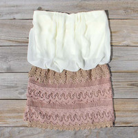 Laced Aura Dress in Sand