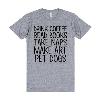 Coffee, Books, Naps, Art, and Dogs
