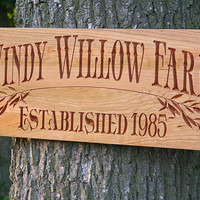 Custom Farm Sign, Family Name Sign, Personalized Farm Sign, Benchmark Custom Signs Cherry WF