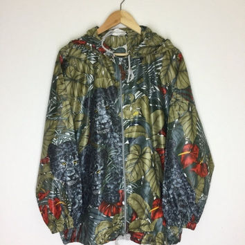 35% OFF Rare! Vintage Salvatore Ferragamo Full Over Print Panther Design Windbreaker Jacket Hoodie Made In Italy Big Size