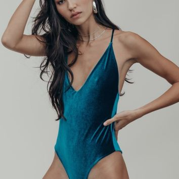 Willi One Piece in Peacock Velvet
