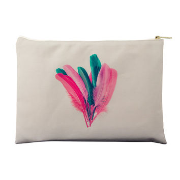 Feather Floral Pouch