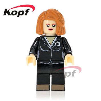 Single Sale Super Heroes The X-Files Agent Kill Bill Vol.1 Uma Thurman The Bride Bricks Building Blocks Children Gift Toys KL069