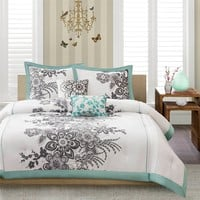 Mizone Tripoli Comforter Set - Green - Full/Queen