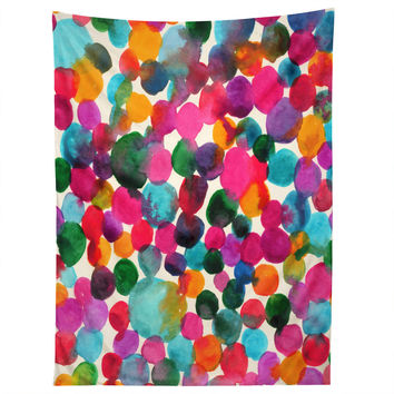 Joy Laforme Watercolor Polka Dot I Tapestry