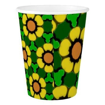 Bold Sunflower Pattern Paper Cup