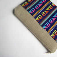 Mexican MacBook 13 sleeve with zipper and pockets, MacBook Pro 13 sleeve, MacBook Air 13 Case, MacBook Pro 13 case