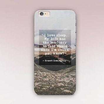 Hemingway Phone Case For - iPhone 6 Case - iPhone 5 Case - iPhone 4 Case - Samsung S4 Case - iPhone 5C - Tough Case - Matte Case - Samsung