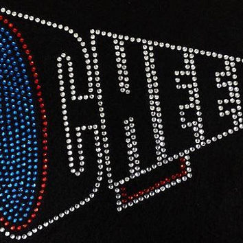 Rhinestone T-Shirt - Cheer | Bling Shirt | Sports | High School | College | Spirit Shirt | Rhinestone Shirt | Hoodie | tshirt