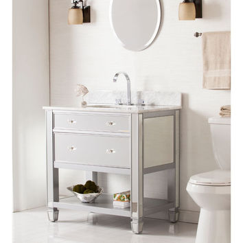 Mirage Bath Vanity Sink With Marble Top