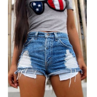 Summer Fashion Women  Blue Shorts Casual Denim Shorts = 1929640004