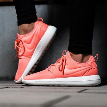 NIKE ROSHE TWO Women Orange pink Casual Running Sport Sneakers Shoes