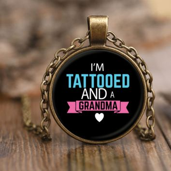 """Tattooed Grandma"" Unique Necklace"