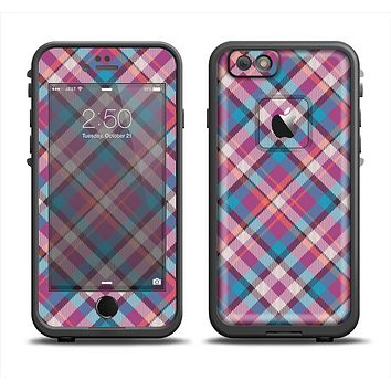 The Striped Vintage Pink & Blue Plaid Apple iPhone 6 LifeProof Fre Case Skin Set