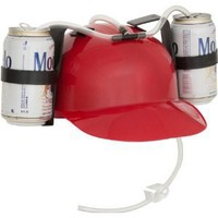 Red Drinker Beer and Soda Guzzler Helmet (Red)