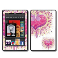 Kindle Fire Vinyl Decal Wrap / Skin  Fantasy Hearts by ItsASkin
